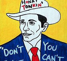 Hank Williams Country Folk Art by krusefolkart
