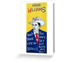 Hank Williams Country Folk Art Greeting Card