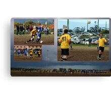 The world game and how small it is.  Canvas Print
