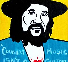 Waylon Jennings Folk Art by krusefolkart