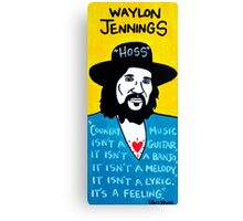Waylon Jennings Folk Art Canvas Print