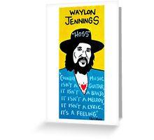Waylon Jennings Folk Art Greeting Card
