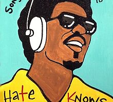 Stevie Wonder Pop Folk  Art by krusefolkart