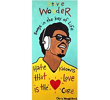 Stevie Wonder Pop Folk  Art Photographic Print