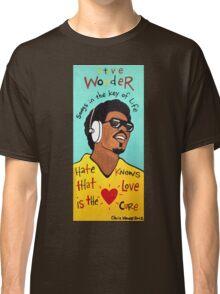 Stevie Wonder Pop Folk  Art Classic T-Shirt
