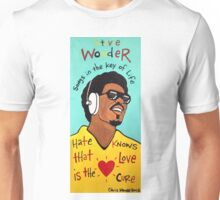 Stevie Wonder Pop Folk  Art Unisex T-Shirt
