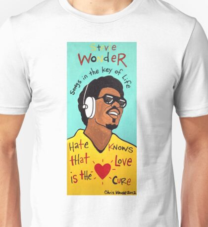 Stevie Wonder Pop Folk  Art Unisex T-Shirt