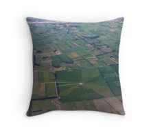 Flying above North Canterbury Throw Pillow