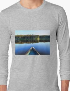 Canoeing on Lonely Lake Long Sleeve T-Shirt