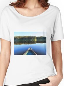 Canoeing on Lonely Lake Women's Relaxed Fit T-Shirt