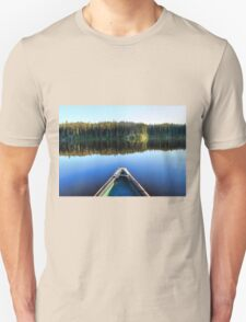 Canoeing on Lonely Lake T-Shirt