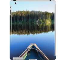 Canoeing on Lonely Lake iPad Case/Skin