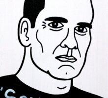 Henry Rollins Folk Art Sticker