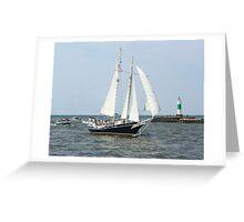 Lake Michigan Schooner Greeting Card