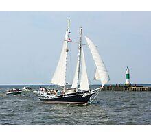 Lake Michigan Schooner Photographic Print