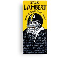 Jack Lambert Steelers Football Folk Art Canvas Print