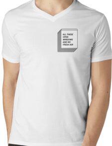 No Fresh Air Mens V-Neck T-Shirt