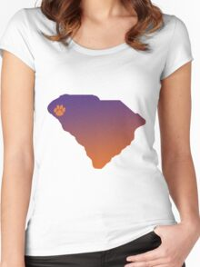 Clemson SC  Women's Fitted Scoop T-Shirt
