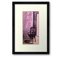 Daddy's Empty Chair Framed Print