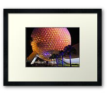Spaceship Earth at Night Framed Print