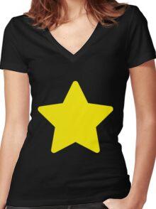 Steven Star Women's Fitted V-Neck T-Shirt
