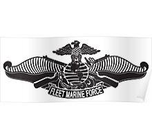 Fleet Marine Force stencil Poster