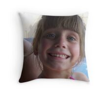 cheecky lil gal Throw Pillow