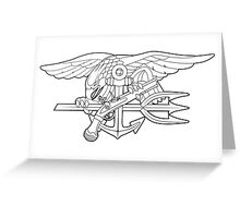 Navy SEALs outline Greeting Card