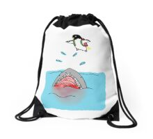 Jetpack Penguin Drawstring Bag