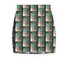 Stained Glass Cross Mini Skirt