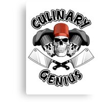 Culinary Genius. Skulls and Meat Cleavers Canvas Print