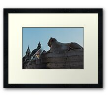 Rome's Fabulous Fountains - Piazza del Popolo Lion Framed Print