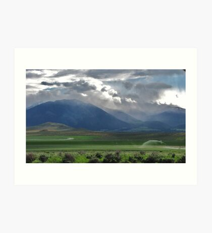 drive by....out the drivers window. Between Burns and Bend Oregon...going West Art Print
