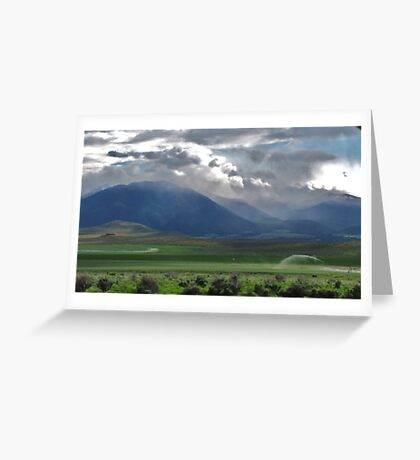 drive by....out the drivers window. Between Burns and Bend Oregon...going West Greeting Card