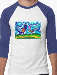 Retro Birds Men's Baseball ¾ T-Shirt