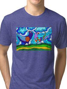 Retro Birds Tri-blend T-Shirt