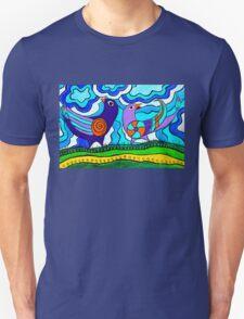 Retro Birds Unisex T-Shirt