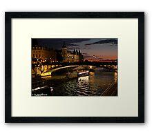 Seine at Night Framed Print