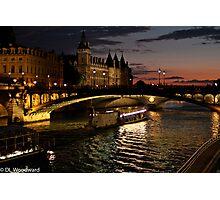 Seine at Night Photographic Print