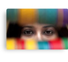 The Eyes Behind The Bangles Canvas Print