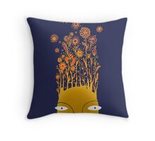 Psychedelic flower power Throw Pillow