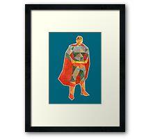 Superhero Lowpoly Framed Print