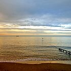 Evening Light, Shanklin Beach by Rod Johnson