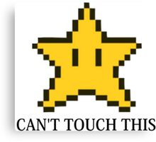 Can't Touch This Invincibility Star Canvas Print
