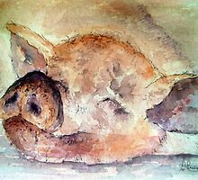 Pigging Tired by Angela  Burman
