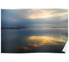 Intracoastal at Dawn - Titusville, FL Poster