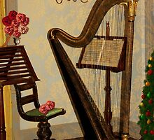 Golden Victorian Harp ~ Heavenly by SummerJade