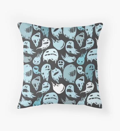 Ghosts party Throw Pillow