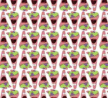 Surprised Patrick Star Alternate Pattern by godlymagikarp