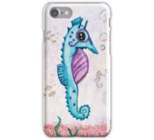 Born to Stand Out - Watercolor Seahorse iPhone Case/Skin